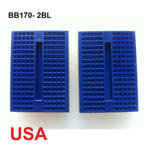 UDIYKITS. 2pcs BLUE MINI BB170 TIE POINTS SOLDERLESS BREADBOARD FOR ARDUINO - 1