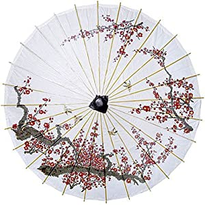 Click to buy Cherry Blossom and Birds 33 Inch Paper Parasol from Amazon!