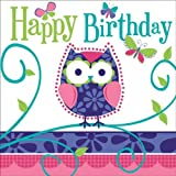 Creative Converting Owl Pal Happy Birthday Lunch Napkins, 16 Count