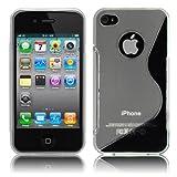 Apple iPhone4 / 4S ケース TPU グリップ カバー ( アイフォン 4 docomo au Softbank SIMフリー 対応 ) 薄型 軽量 / 滑止め / ソフト フィット【Design S Clear (透明)】…