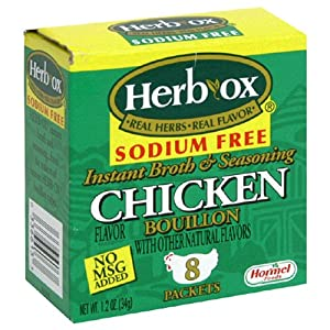 Herb-Ox Low Sodium Free Chicken Instant Bouillion, 8 Count Box (Pack of 12)