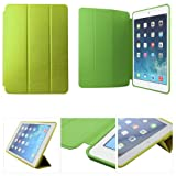Green Slim Snug Fit Tri-Fold Leather Smart Auto Wake/Sleep Book Cover Case For Apple IPad Air + Bonus DMG Wristband...