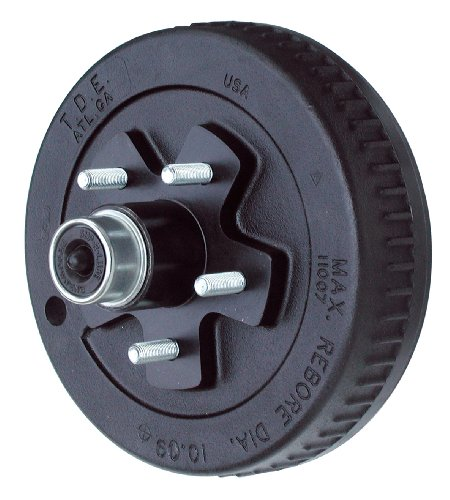 TowZone 10-Inch Brake Drum Hub for Trailers