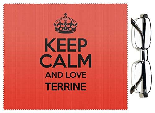 Rouge Keep Calm and Love Terrine Chiffon pour lentille couleur 3072