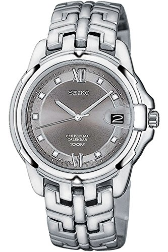 SEIKO SLL189P1 Men's Grand Sport,Brand New Old Stock,Perpetual Calendar,Quartz,Stainless Steel,Hardlex Crystal,100m WR,SLL189 (Old Seiko Watches For Men compare prices)