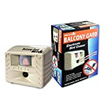 Bird-X Balcony Gard Ultrasonic Bird Repeller keeps birds away from small areas like balconies, decks and small yards with silent-to-humans, ultrasonic sounds and vibrations