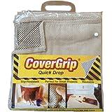 Covergrip 35408 Slip Resistant Canvas Drop Cloth, 3.5' X 4'