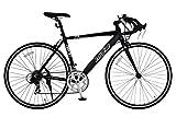 ANIMATO(アニマート) ロードバイク MC2(エムシーツー) 700C マットブラック 軽量アルミフレーム【SHIMANO14段変速】 ランキングお取り寄せ