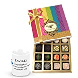 Valentine Chocholik Belgium Chocolates - Awesome Collection Of Choco Box With Friendship Mug