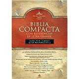 RVR 1960 Biblia Compacta Letra Grande con Referencias, negro imitación piel (Spanish Edition)