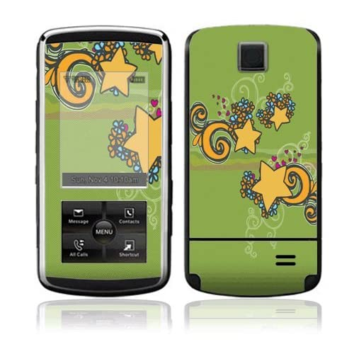 Flower Stars Decorative Skin Cover Decal Sticker for LG Venus VX8800 Cell Phone