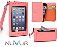 Coral  Expose  Wristlet Cover Wallet Phone Case Fits Samsung Galaxy S4 mini  I9190  + NuVur ™…