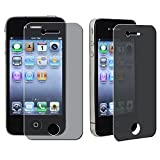 Importer520 2X Privacy Screen Protector for Apple iPhone 4 4S