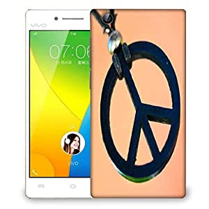 Snoogg Peace And Love Designer Protective Phone Back Case Cover For VIVO Y51 L