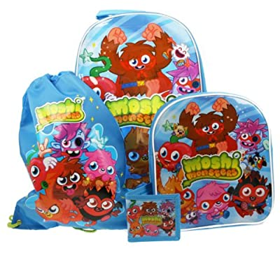 Moshi Monsters Children's 4 Piece Luggage Set from Trademark Collections