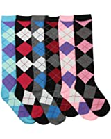 Women's Colorful & Fun Knee High Socks 6 Pack