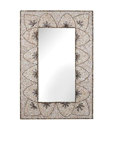 Artistic Lighting Flower Arc Shell Mirror, Natural
