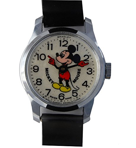 Bradley Mickey Mouse Watch Vintage Made in 70s 6801