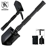 Folding Camping Survival Shovel with Pick