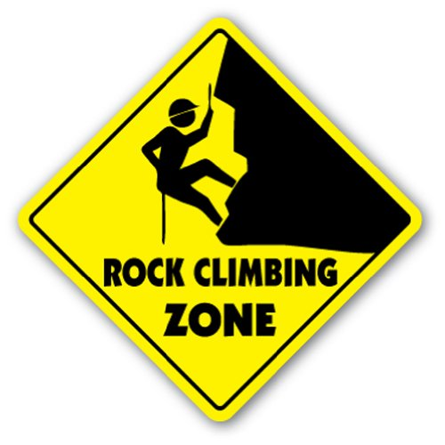 ROCK CLIMBING ZONE Sign xing gift novelty clips