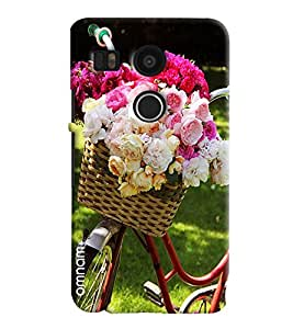Omnam Beautiful Roses Lying In Cycle Printed Designer Back Cover Case For LG Nexus 5 X