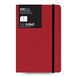Letts Noteletts Universal Notebook, Medium, Ruled, Burgundy, 6.5 x 4.375 Inches, 192 Pages (LEN6RBY)