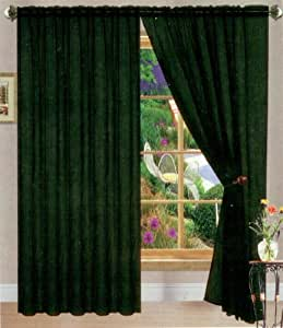 Black Linda Sheer Voile Panel Curtain Drape 60 Inches Wide X 84 Inches Long One