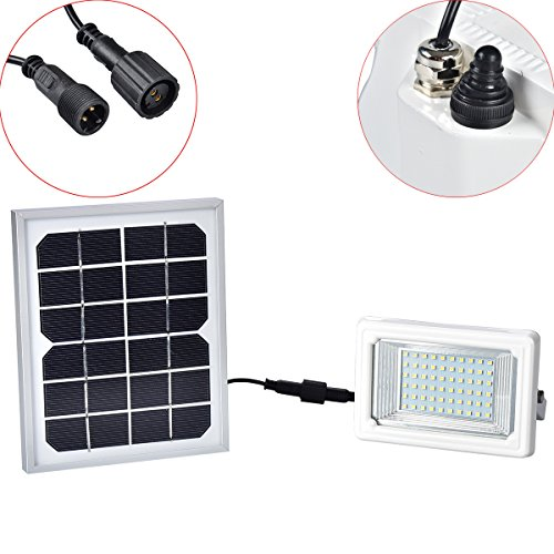 Solar Flood Light,Findyouled Warm White 60led 260 Lumen Outdoor Waterproof Security Landscape lights with Remote Control