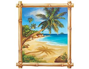 Wallies tropical window wallpaper mural home for Amazon mural wallpaper