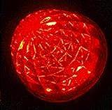 高輝度 16連 LED クリスタル 8面 カット トラック バス サイドマーカーランプ 10個 セット 24V 車 専用 防水 加工 選べる カラー 色 (09: 赤 4個 セット)