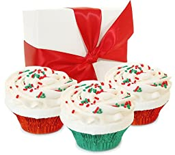 Fizzy Baker Christmas Cupcake Trio Gift Box