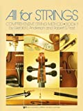 All for Strings: Comprehensive String Method, Book 1 (CELLO) by Gerald E. Anderson, Robert S. Frost (1985) Paperback