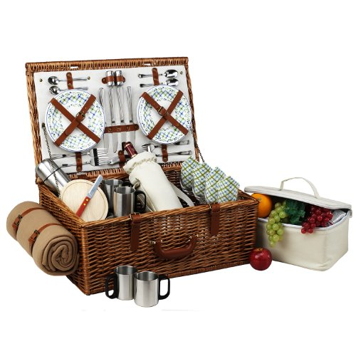 Dorset Gazebo Picnic Basket for 4 with Blanket & Coffee Set