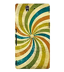 MULTICOLOURED ELIPTICAL LINES PATTERN 3D Hard Polycarbonate Designer Back Case Cover for Sony Xperia Z :: Sony Xperia Z L36h