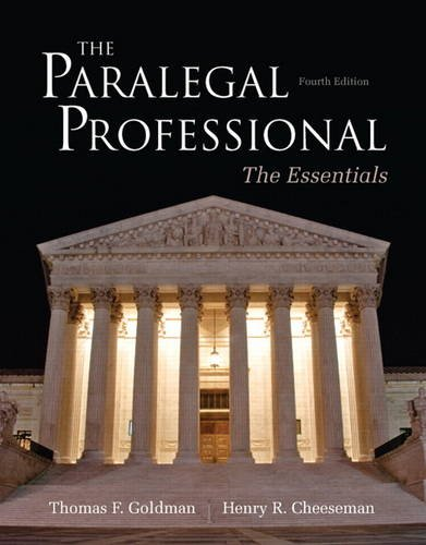 The Paralegal Professional: Essentials (4th Edition)