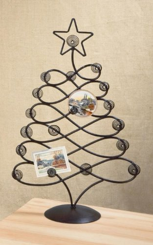 Tabletop Christmas Card Photo Holder Tree Display