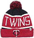 MLB Minnesota Twins '47 Calgary Cuff Knit Beanie with Pom, Navy, One Size