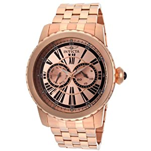 Invicta Men's 14590 Specialty Analog Display Swiss Quartz Rose Gold Watch