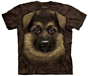 The Mountain - - T-shirt de chiot berger allemand pour hommes, 4X-Large, As Shown