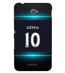 PRINTVISA Football Dzeko Case Cover for Sony Xperia E4