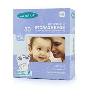 Lansinoh bolsas de almacenamiento de leche (50 bolsas) por Lansinoh - Bebe Hogar