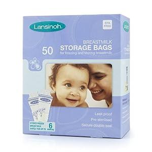 Lansinoh Breastmilk Storage Bags (50 Pieces)