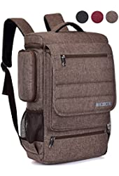 Laptop Backpack ,BRINCH(TM) Multifunctional Unisex Luggage & Travel Bags Knapsack,rucksack Backpack Hiking Bags Students School Shoulder Backpacks Fits Up to 17 Inch Laptop Macbook Computer,Brown