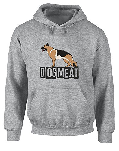 Dog Meat, Printed Hoodie - Sports Grey/Black/Transfer 2XL (Jack Russle compare prices)