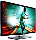 Philips 40PFL8606K/02 102 cm (40 Zoll) Ambilight 3D LED-Backlight-Fernseher, EEK A (Full-HD, 3D MAX, 800Hz PMR, DVB-T/C/S, Smart TV) schwarz mit Glasfront