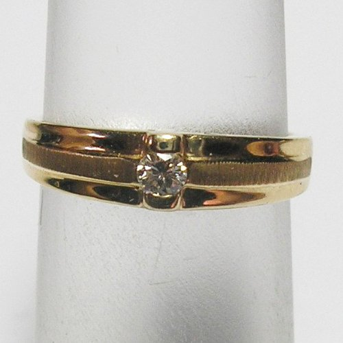 14K Yellow Gold Diamond Solitaire Promise Ring - 0.10 Ct.