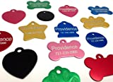 Anodized Pet ID Tags - Bone, Round, Heart, Hydrant, Paw, Star - 8 Colors