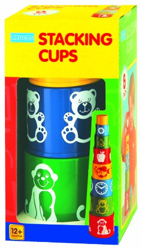 megcos Stacking Printed Cups, 8-Piece