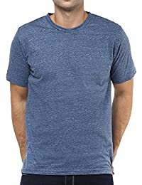Colors Couture Blue Grey T-shirt For Men 100% Cotton With Round Neck Half Sleeves Slim Fit T-shirts For Men Stylish...