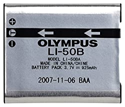 Olympus LI-50B Rechargeable Li-Ion Battery for Select Olympus Digital Cameras - Retail Packaging